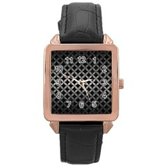 Circles3 Black Marble & Gray Metal 1 Rose Gold Leather Watch