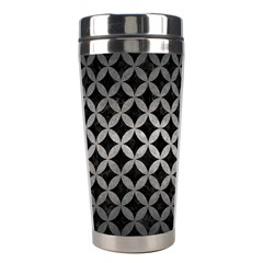 Circles3 Black Marble & Gray Metal 1 Stainless Steel Travel Tumblers
