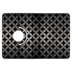 Circles3 Black Marble & Gray Metal 1 Kindle Fire Hdx Flip 360 Case