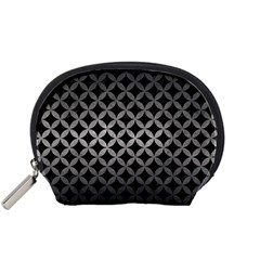 Circles3 Black Marble & Gray Metal 1 Accessory Pouches (small)