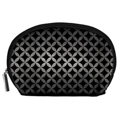 Circles3 Black Marble & Gray Metal 1 Accessory Pouches (large)