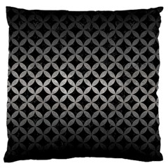 Circles3 Black Marble & Gray Metal 1 Large Flano Cushion Case (one Side)