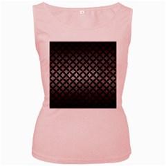 Circles3 Black Marble & Gray Metal 1 (r) Women s Pink Tank Top