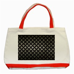Circles3 Black Marble & Gray Metal 1 (r) Classic Tote Bag (red)