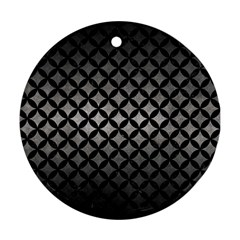 Circles3 Black Marble & Gray Metal 1 (r) Round Ornament (two Sides)