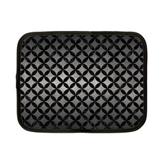 Circles3 Black Marble & Gray Metal 1 (r) Netbook Case (small)