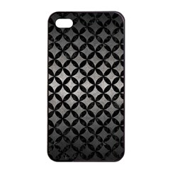 Circles3 Black Marble & Gray Metal 1 (r) Apple Iphone 4/4s Seamless Case (black)