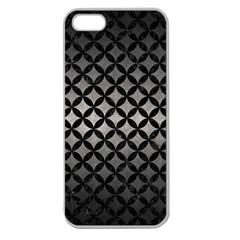 Circles3 Black Marble & Gray Metal 1 (r) Apple Seamless Iphone 5 Case (clear)