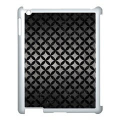 Circles3 Black Marble & Gray Metal 1 (r) Apple Ipad 3/4 Case (white)