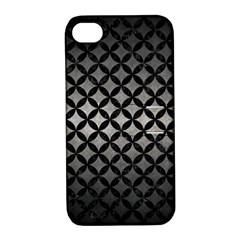 Circles3 Black Marble & Gray Metal 1 (r) Apple Iphone 4/4s Hardshell Case With Stand