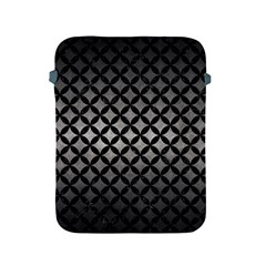 Circles3 Black Marble & Gray Metal 1 (r) Apple Ipad 2/3/4 Protective Soft Cases
