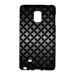 Circles3 Black Marble & Gray Metal 1 (r) Galaxy Note Edge