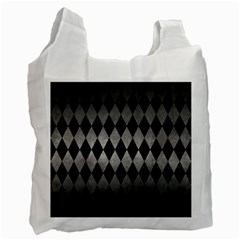 Diamond1 Black Marble & Gray Metal 1 Recycle Bag (two Side)