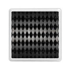 Diamond1 Black Marble & Gray Metal 1 Memory Card Reader (square)