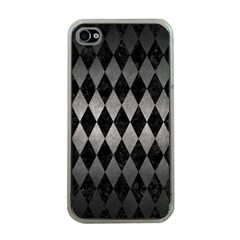 Diamond1 Black Marble & Gray Metal 1 Apple Iphone 4 Case (clear)