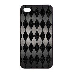 Diamond1 Black Marble & Gray Metal 1 Apple Iphone 4/4s Seamless Case (black)
