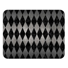 Diamond1 Black Marble & Gray Metal 1 Double Sided Flano Blanket (large)