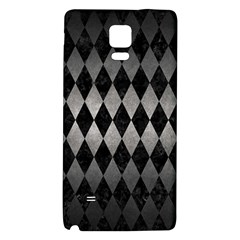 Diamond1 Black Marble & Gray Metal 1 Galaxy Note 4 Back Case