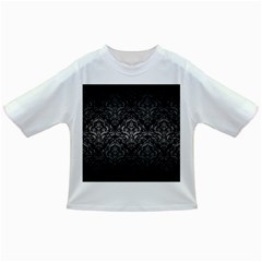 Damask1 Black Marble & Gray Metal 1 Infant/toddler T Shirts