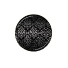 Damask1 Black Marble & Gray Metal 1 Hat Clip Ball Marker (10 Pack)