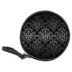 Damask1 Black Marble & Gray Metal 1 Classic 20 Cd Wallets