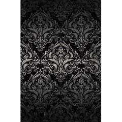 Damask1 Black Marble & Gray Metal 1 5 5  X 8 5  Notebooks