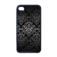 Damask1 Black Marble & Gray Metal 1 Apple Iphone 4 Case (black)