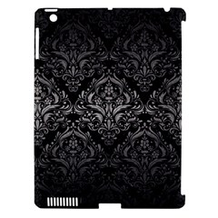 Damask1 Black Marble & Gray Metal 1 Apple Ipad 3/4 Hardshell Case (compatible With Smart Cover)