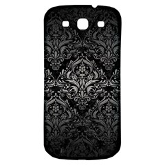 Damask1 Black Marble & Gray Metal 1 Samsung Galaxy S3 S Iii Classic Hardshell Back Case