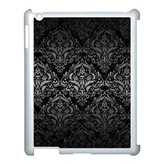 Damask1 Black Marble & Gray Metal 1 Apple Ipad 3/4 Case (white)