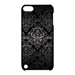 Damask1 Black Marble & Gray Metal 1 Apple Ipod Touch 5 Hardshell Case With Stand