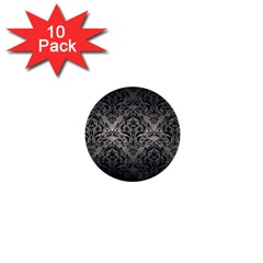Damask1 Black Marble & Gray Metal 1 (r) 1  Mini Buttons (10 Pack)