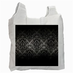 Damask1 Black Marble & Gray Metal 1 (r) Recycle Bag (one Side)
