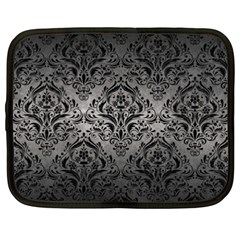Damask1 Black Marble & Gray Metal 1 (r) Netbook Case (xxl)