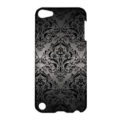 Damask1 Black Marble & Gray Metal 1 (r) Apple Ipod Touch 5 Hardshell Case
