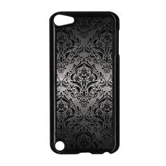 Damask1 Black Marble & Gray Metal 1 (r) Apple Ipod Touch 5 Case (black)