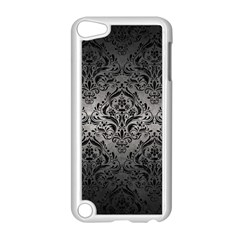 Damask1 Black Marble & Gray Metal 1 (r) Apple Ipod Touch 5 Case (white)