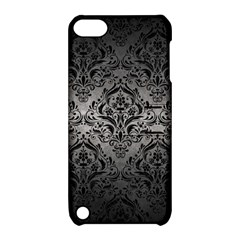 Damask1 Black Marble & Gray Metal 1 (r) Apple Ipod Touch 5 Hardshell Case With Stand