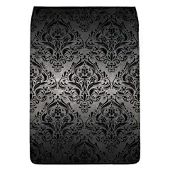 Damask1 Black Marble & Gray Metal 1 (r) Flap Covers (l)
