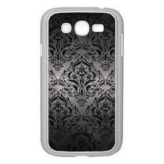 Damask1 Black Marble & Gray Metal 1 (r) Samsung Galaxy Grand Duos I9082 Case (white)