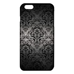 Damask1 Black Marble & Gray Metal 1 (r) Iphone 6 Plus/6s Plus Tpu Case