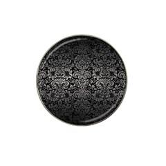 Damask2 Black Marble & Gray Metal 1 Hat Clip Ball Marker (10 Pack)