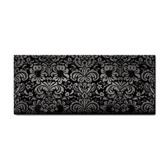 Damask2 Black Marble & Gray Metal 1 Cosmetic Storage Cases