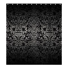 Damask2 Black Marble & Gray Metal 1 Shower Curtain 66  X 72  (large)