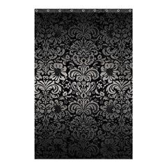 Damask2 Black Marble & Gray Metal 1 Shower Curtain 48  X 72  (small)