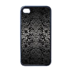 Damask2 Black Marble & Gray Metal 1 Apple Iphone 4 Case (black)