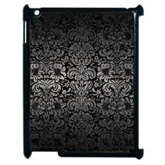 Damask2 Black Marble & Gray Metal 1 Apple Ipad 2 Case (black)
