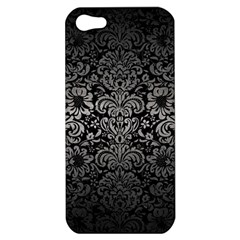 Damask2 Black Marble & Gray Metal 1 Apple Iphone 5 Hardshell Case