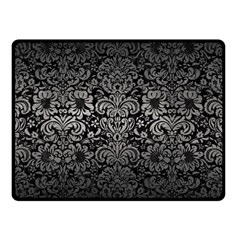Damask2 Black Marble & Gray Metal 1 Double Sided Fleece Blanket (small)