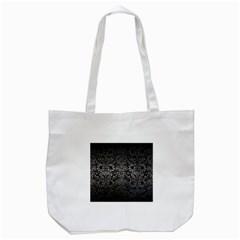 Damask2 Black Marble & Gray Metal 1 Tote Bag (white)
